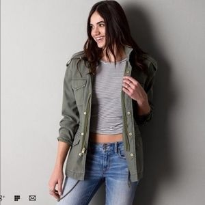 American Eagle Outfitters Army Green Jacket